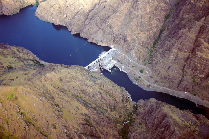 File photo. An aerial view of Hells Canyon Dam on the Snake River, the ...